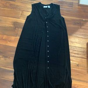Chico'S Size 3 Traveler Tunic/Long Cardigan Black